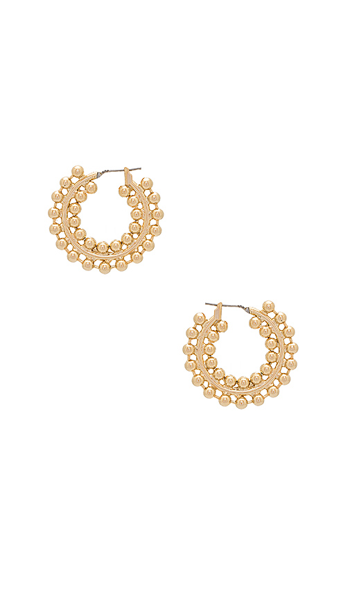 Auden Nicoletta Hoop Earrings in Metallic Gold