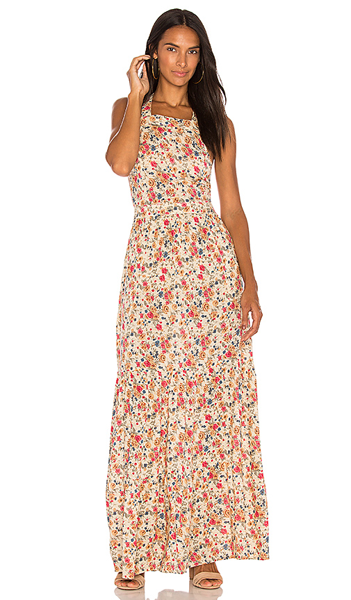 AUGUSTE Helena Maxi Apron Dress in Cream