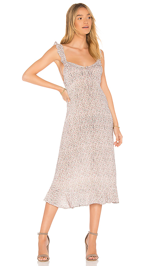 AUGUSTE Daisy Love Midi Dress in Blush