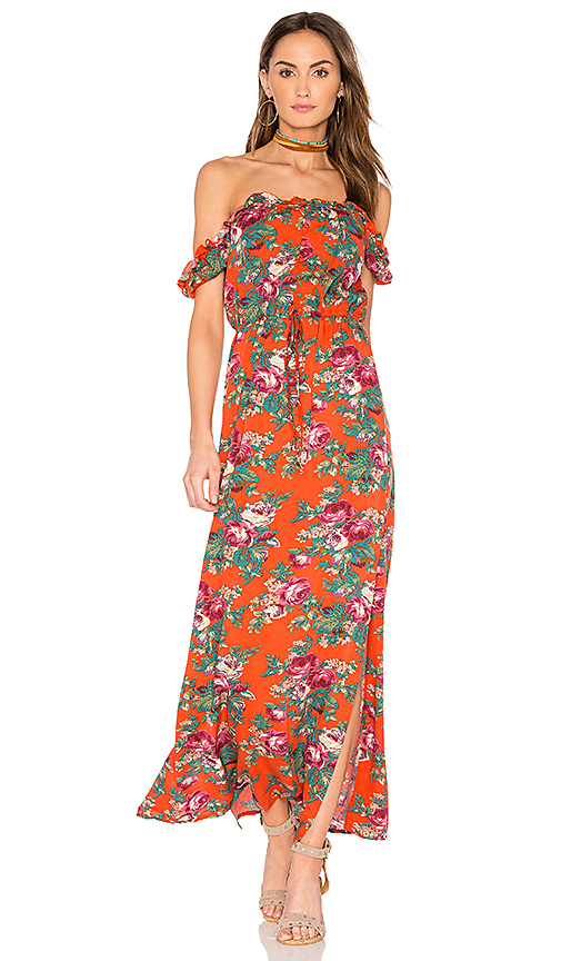 AUGUSTE Stevie Maxi Dress in Red