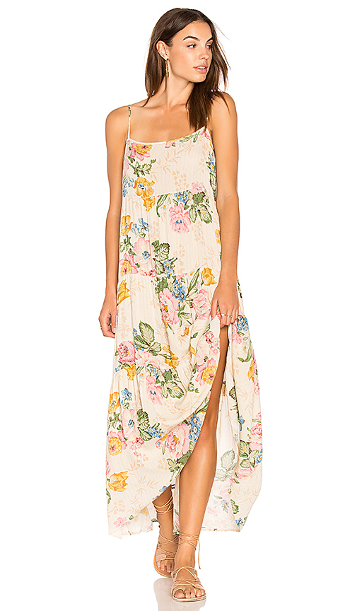 AUGUSTE Delilah Slip Maxi Dress in Beige