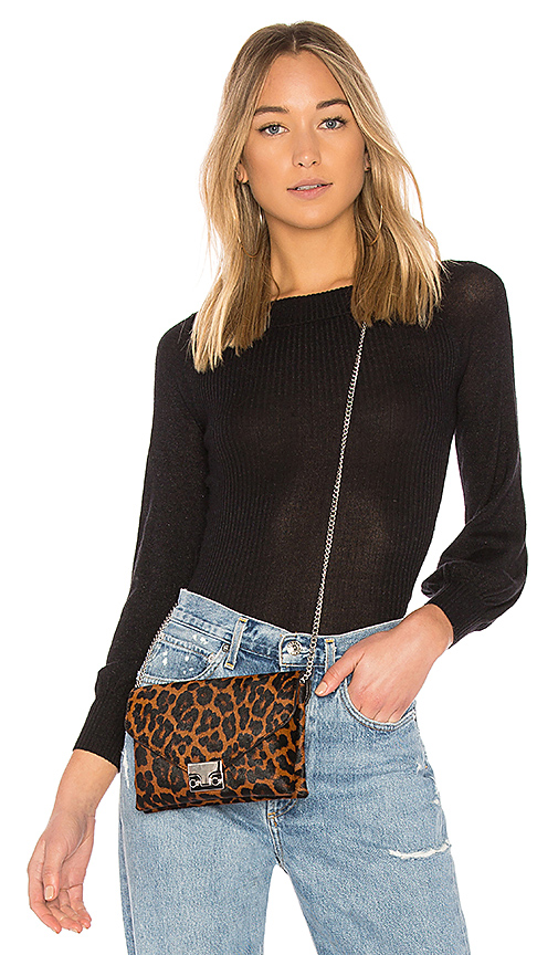 Autumn Cashmere Off Shoulder Sweater in Black. - size L (also in M,S,XS)