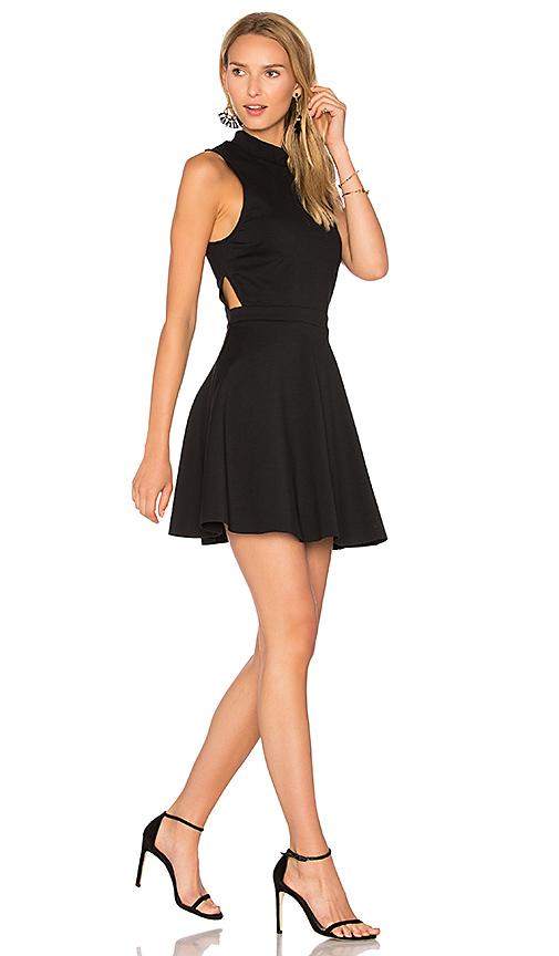 AVEC LES FILLES Mock Neck Dress in Black