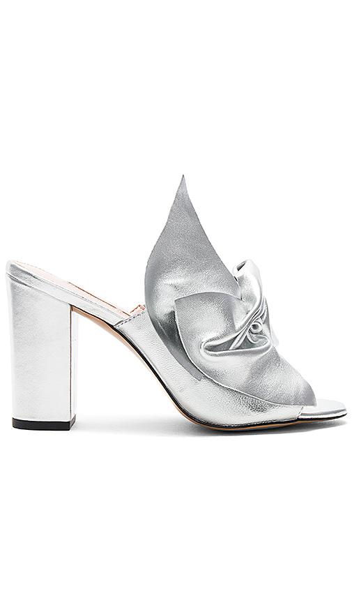 AVEC LES FILLES Marie Metallic Mules in Metallic Silver