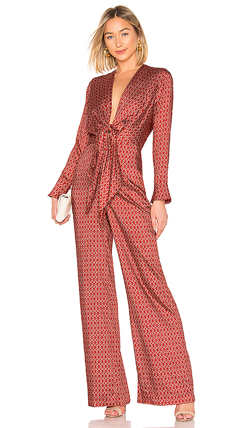ALEXIS   Alexis Shona Jumpsuit In Red. - Size S (Also In L,M)   Goxip
