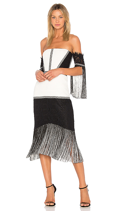 Alexis Antoinette Dress in Black & White