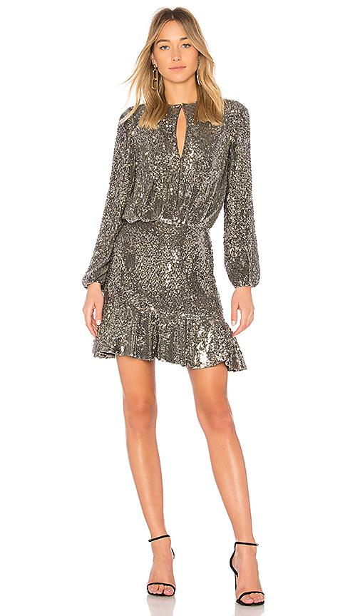 Alexis Tamera Dress in Metallic Silver