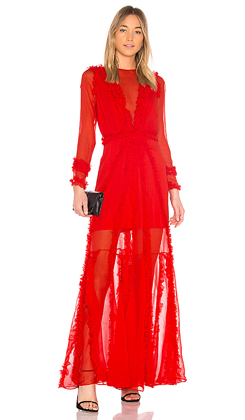 Alexis Janine Sheer Gown in Red