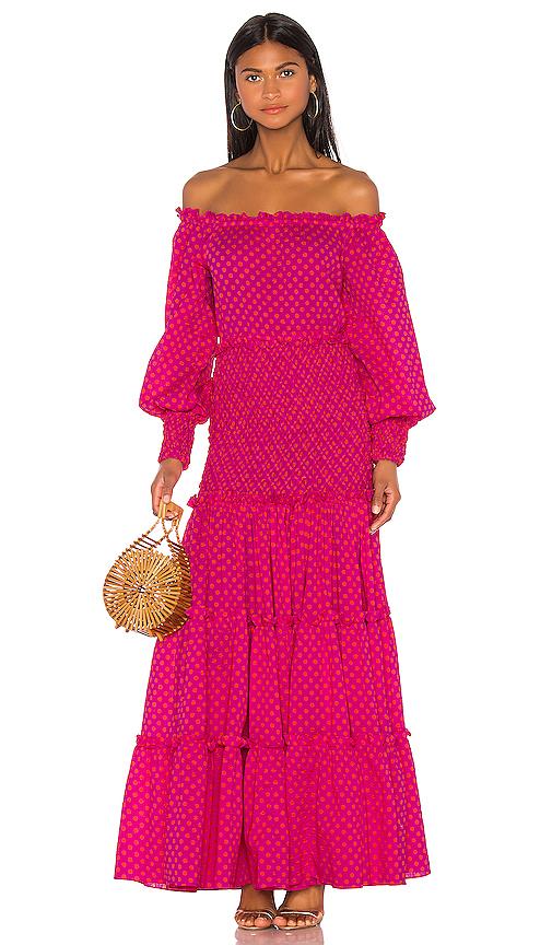 Alexis Thalssa Dress In Fuchsia Dot