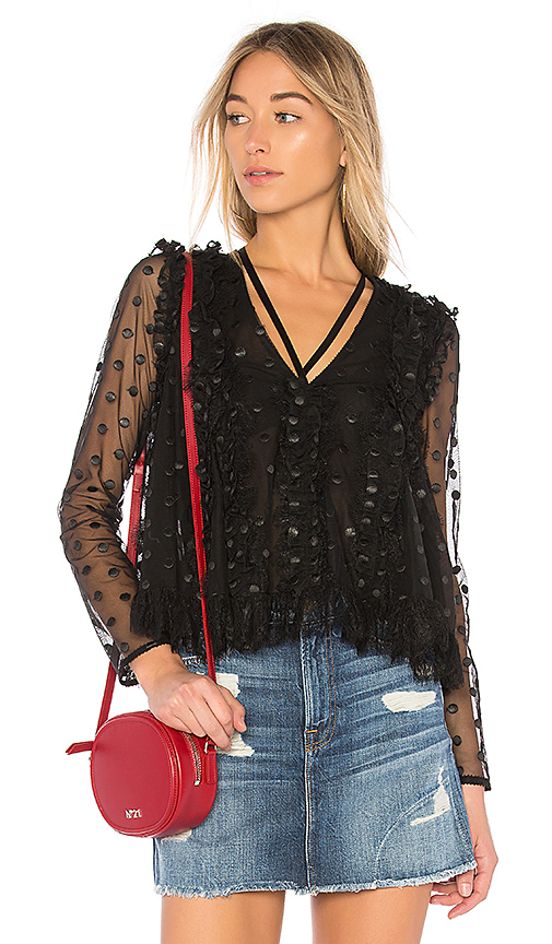 Alexis Clementine Blouse in Black