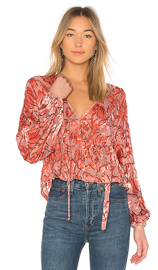 Alexis Caprina Blouse in Pink. - size L (also in M,S,XS)