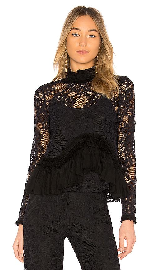 Alexis Karenza Lace Blouse in Black