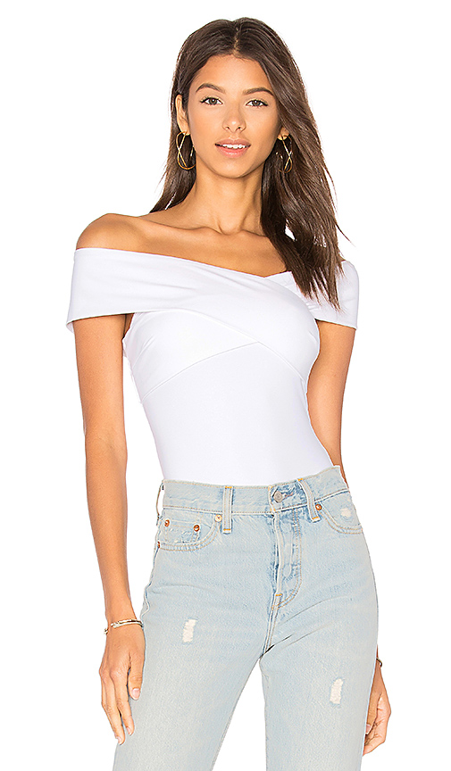 Alix Wooster Bodysuit in White. - size XS (also in S)