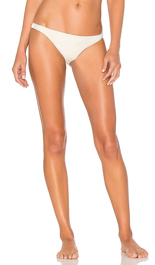 Alix Collins Bikini Bottom in White. - size L (also in S,XS)