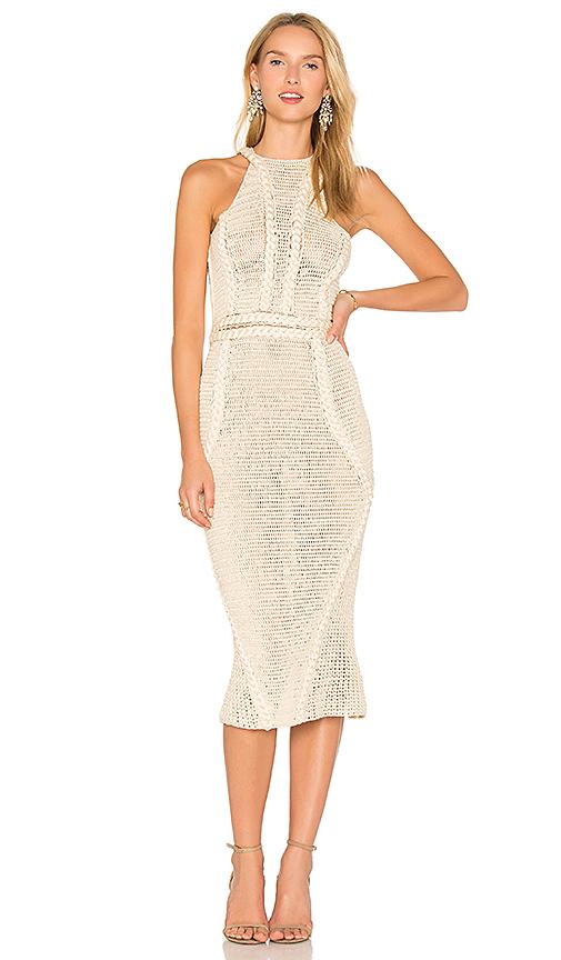 AYNI Palmara Midi Dress in Beige. - size L (also in XS)