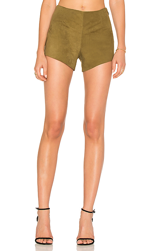 AYNI Quarzo Suede Short in Olive. - size L (also in M,S,XS)