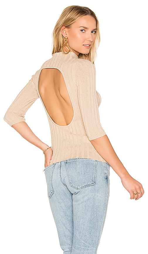 AYNI Nevada Rib Sweater in Tan. - size L (also in M,S,XS)