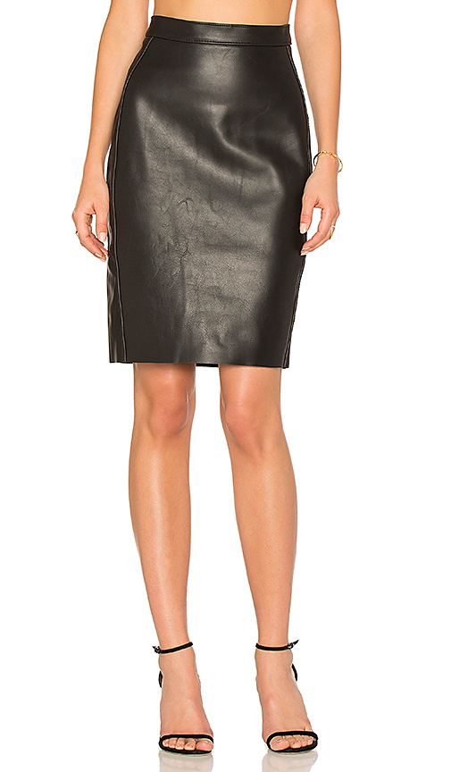 AYNI Honshu Leather Skirt in Black. - size L (also in S,XS)