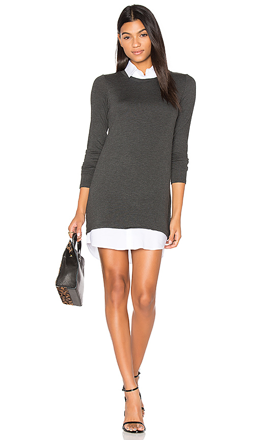 Bailey 44 Cher Sweater Dress in Charcoal
