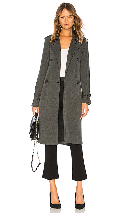 BAILEY 44 | Bailey 44 Secret Agent Superluxe Fleece Trench In Charcoal. - Size S (Also In M) | Goxip
