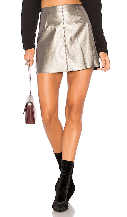Bailey 44 Chew The Scenery Skirt in Metallic Silver. - size L (also in M,S,XS)