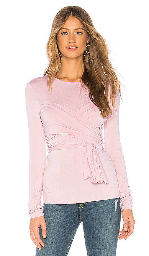 908393bf52b8cf Bailey 44 All Or Nothing Wrap Top in Pink