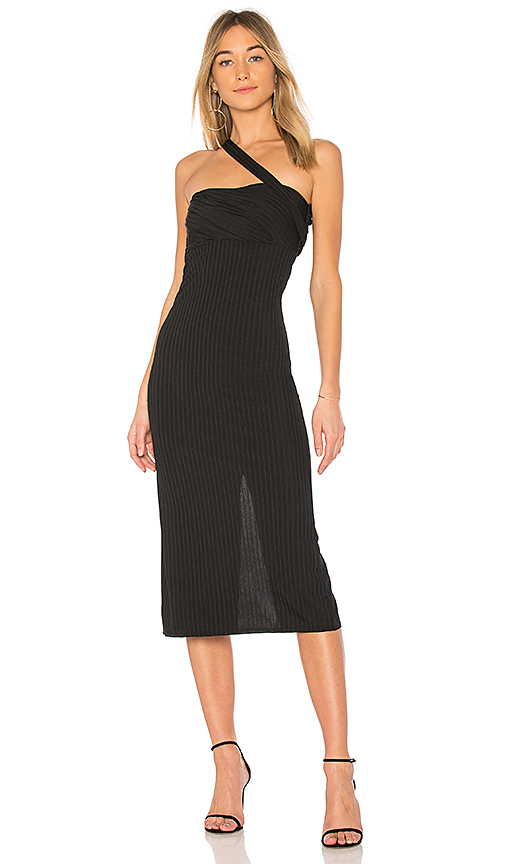 Baja East Bandeau Dress in Black