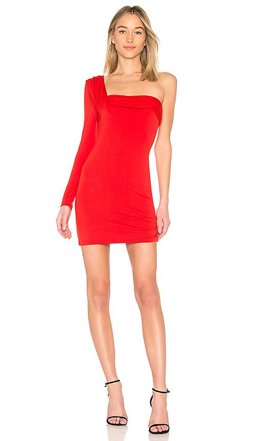 Baja East x REVOLVE One Shoulder Mini Dress in Red