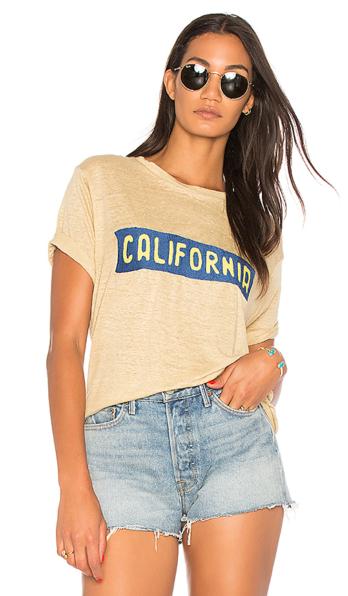 Banner Day California Plate Tee in Beige. - size 1 (also in 2,3,4)