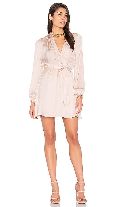 Bardot Miranda Wrap Dress in Blush. - size Aus 10 / US S (also in Aus 12 / US M,Aus 8 / US XS)
