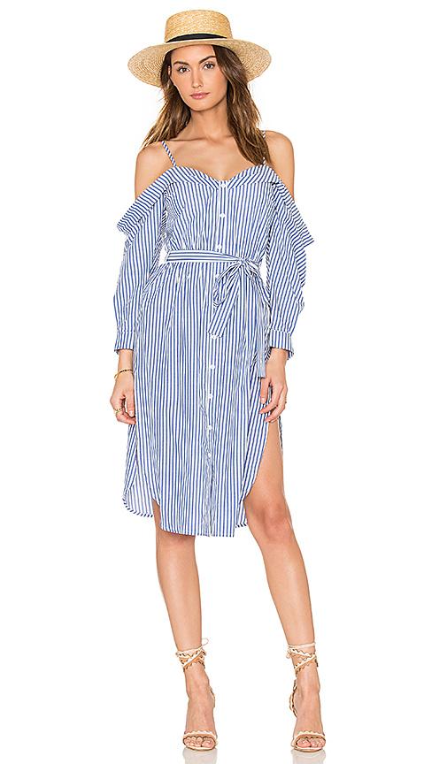 Bardot Paloma Stripe Dress in Blue. - size Aus 10 / US S (also in Aus 12 / US M,Aus 14 / US L,Aus 8 / US XS)
