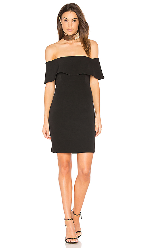 Bardot Off Shoulder Dress in Black