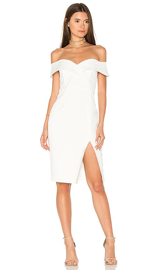Bardot Bella Midi Dress in Ivory