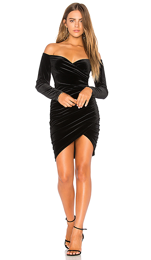Bardot Alex Wrap Dress in Black