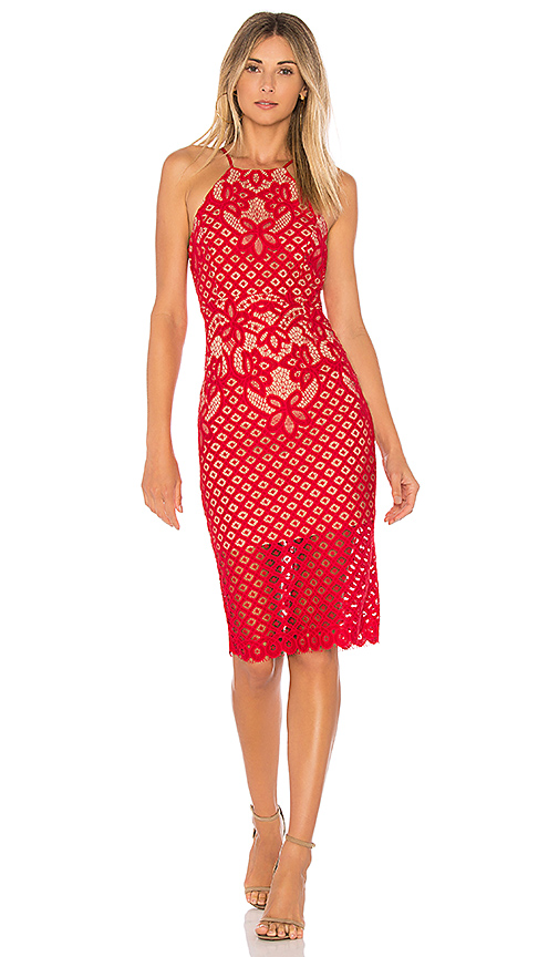 Bardot Mila Lace Dress in Red. - size Aus 10 / US S (also in Aus 14 / US L)