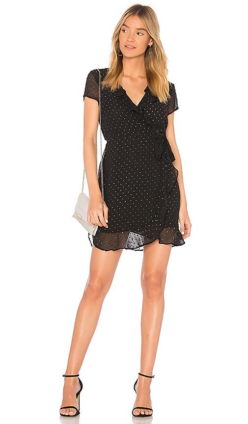 Bardot Foil Spotty Dress in Black