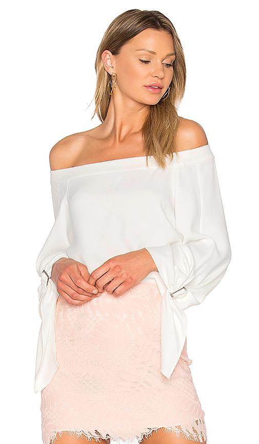 Bardot Buckle Sleeve Top in Ivory