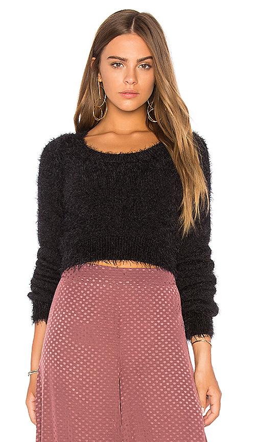 Bardot Cass Knit Crop Top in Black