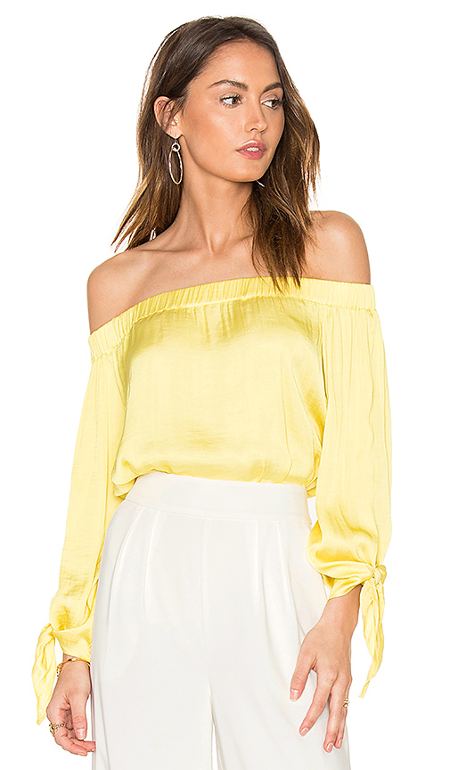 Bardot El Sol Top in Yellow