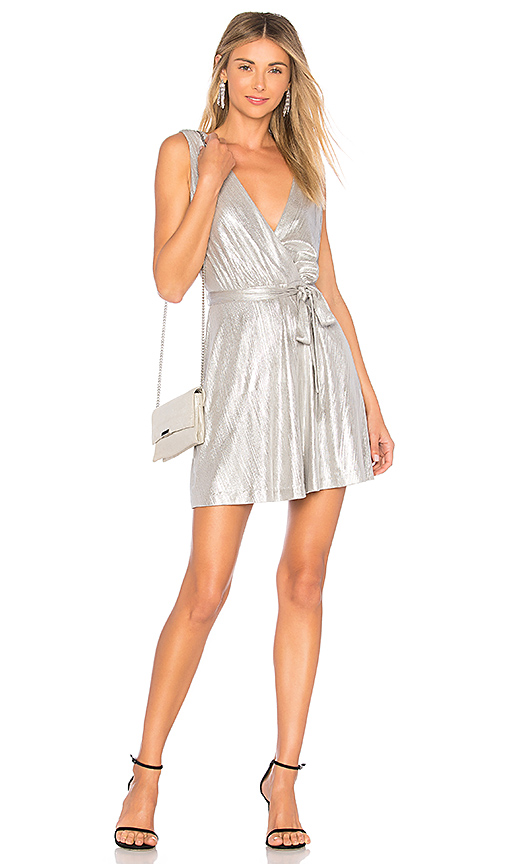 BB Dakota Aggie Dress in Metallic Silver