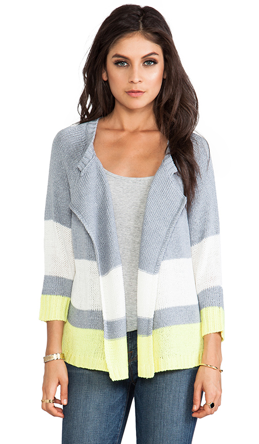 Jack By BB Dakota Idra Striped Cardigan in Gray