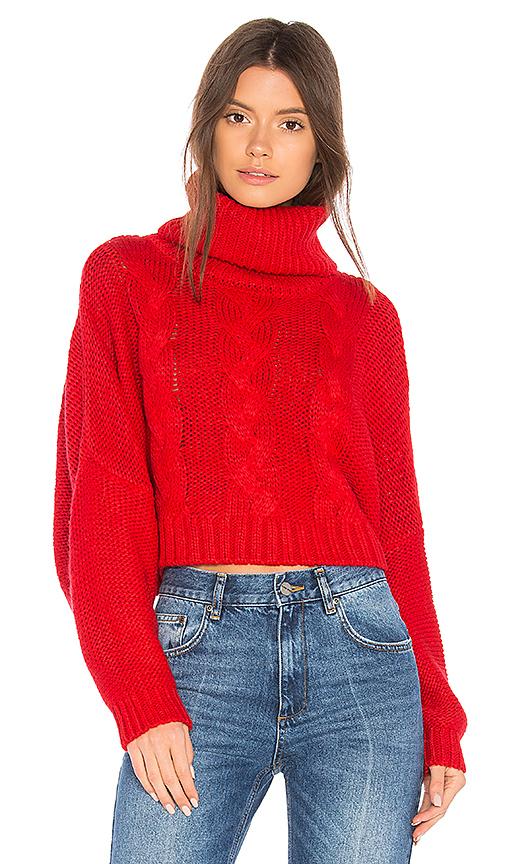 BB Dakota JACK by BB Dakota Hobie Sweater in Red. - size L (also in M,S,XS)