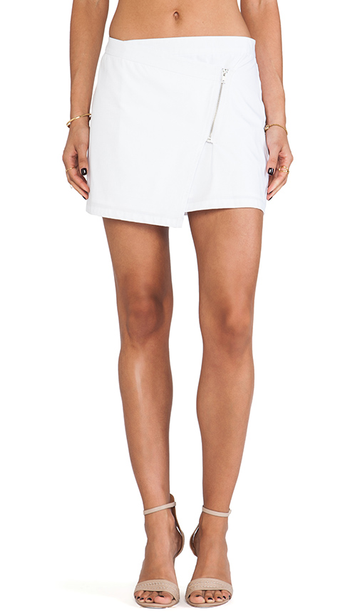 Jack by BB Dakota Garnet Mini Zip Skirt in White