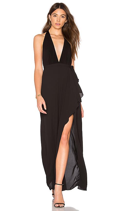 BCBGMAXAZRIA Deep V Gown in Black