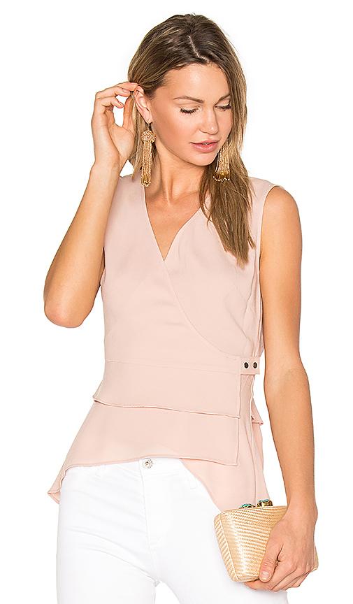 BCBGMAXAZRIA Eleni Wrap Top in Pink