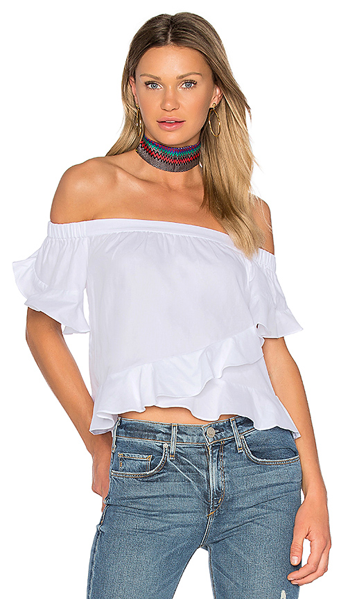 BCBGMAXAZRIA Trixy Top in White