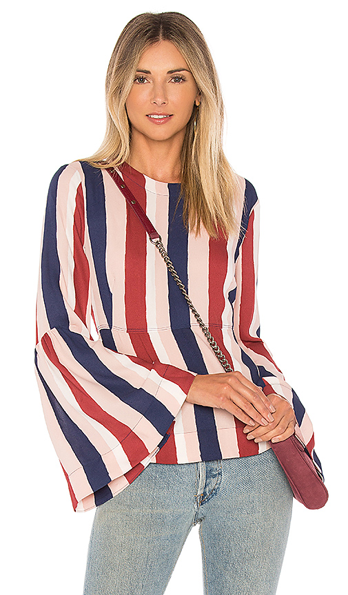 Shop BCBGMAXAZRIA Jeanne Top in Pink online tops
