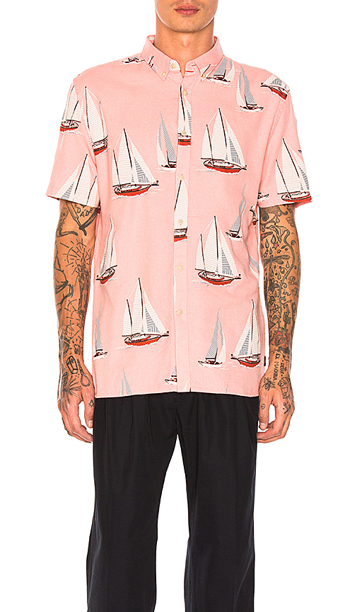 Barney Cools Yacht Club Shirt in Pink. - size L (also in M,XL)