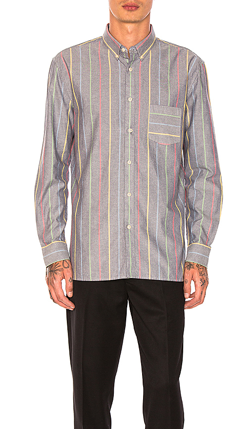Barney Cools Skiffy Shirt In Stripe in Blue. - size L (also in M,S,XL)