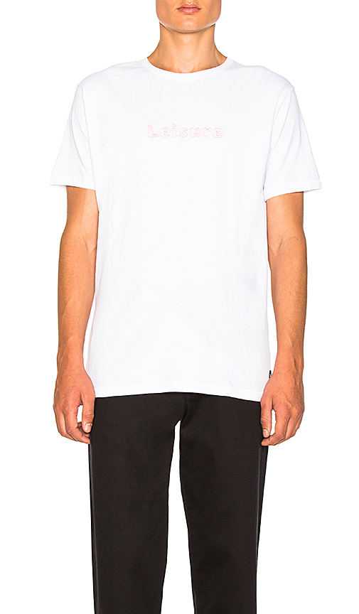Barney Cools Leisure Tee In White in White. - size L (also in M,S,XL)